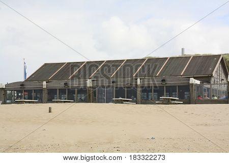 Vlieland.May-15-2016. Restaurant on the beach of the island Vlieland. The Netherlands