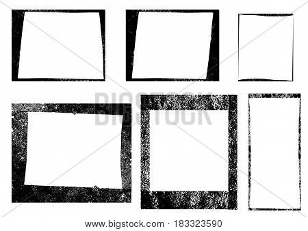 Set of Frames, Textures Lines and Brushes. Vector