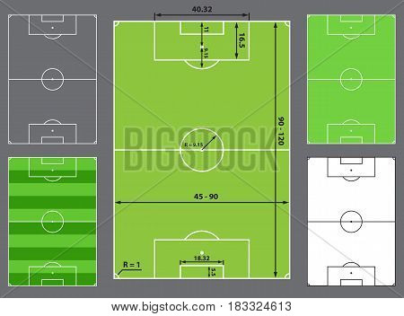 football field or soccer field sizes, stadium design