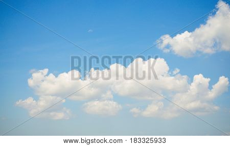 Sky and Cloud. On the bright. Background Texture and Pattern