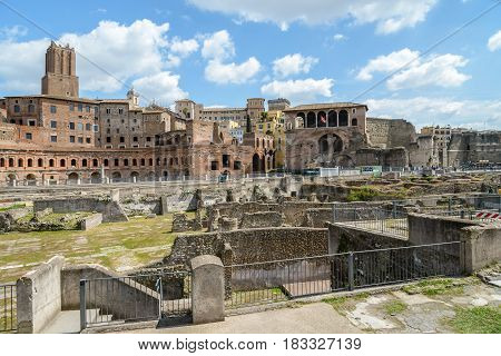a view of fori imperiali in Rome Italy