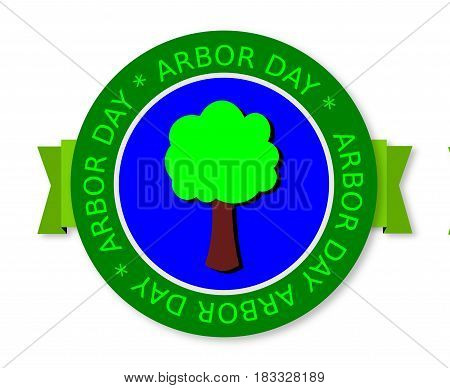 National Arbor day,  web green banner with tree