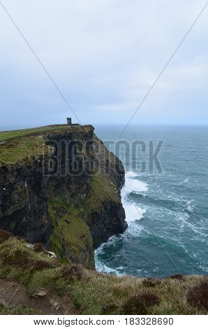 Hag's Head on the towering cliffs of moher in Ireland