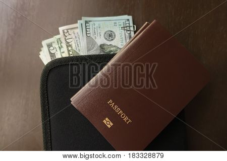 Passport and Money travel plan concept around the world