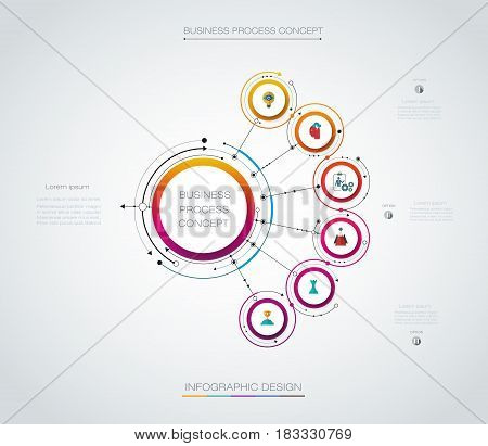Vector infographics timeline design template with label design and icons 8 options or steps. Can be used for business, infograph, template, process, infographics, diagram, chart, flowchart, processes diagram, time line