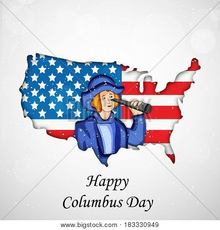 Illustration of background for USA Columbus Day