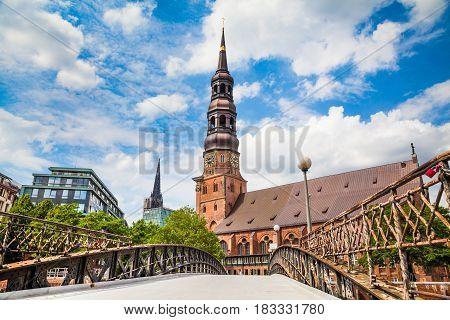 Historic St. Catherine's Church In Hamburg, Germany