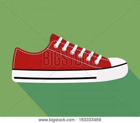 sneakers isolated on background. Vector illustration. Eps 10.