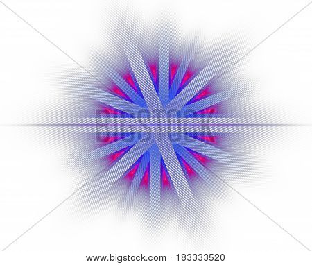 Colorful abstract fractal illustration for creative design