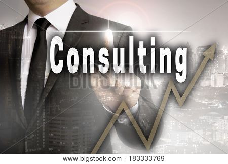 Consulting is shown by businessman concept picture
