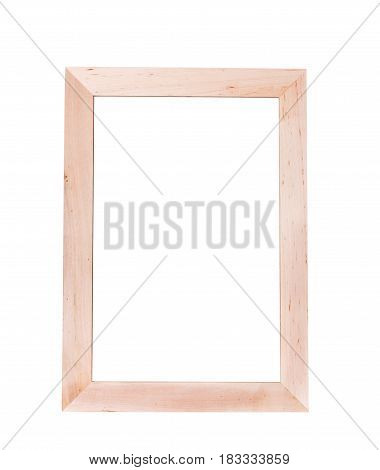 Vertical empty wooden frame for writing the text With blank white sheet template mock-up