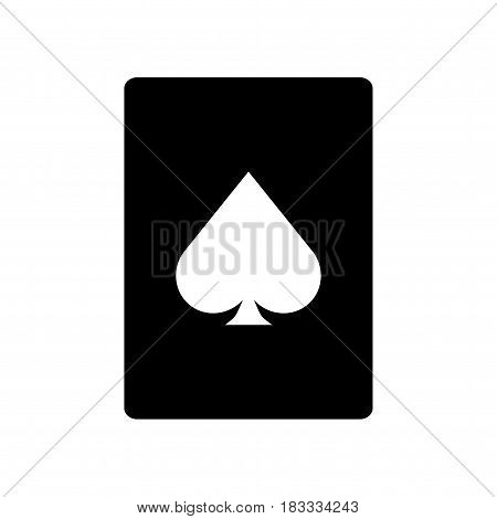 Cardd ace icon. Isolated vector on white background.