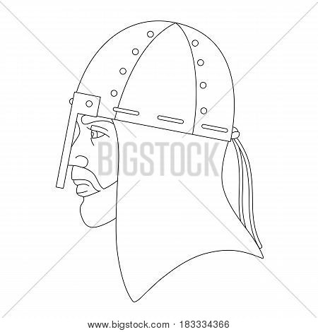 Vector illustration of viking head isolated on a white background. Can be used for graphic design, textile design or web design.