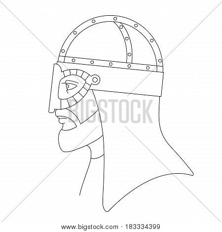 Vector illustration of viking in helmet isolated on a white background. Can be used for graphic design, textile design or web design.