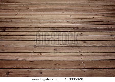 Image of empty brown wooden floor background