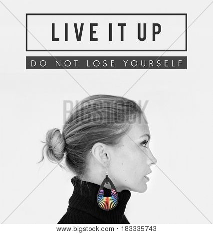 Live It Up Portrait Icon Word