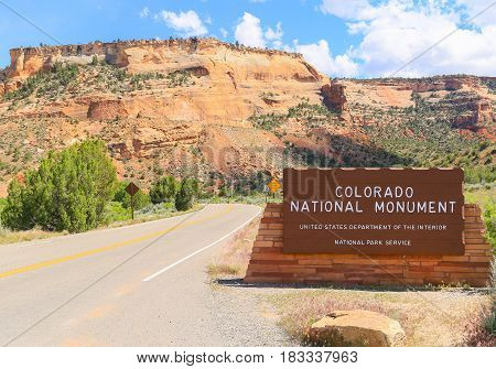 Entering The Colorado National Monument