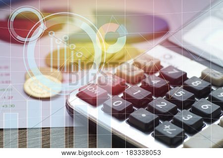 pile coin money with account book finance and banking concept for background.concept in grow and walk step by step for success in business