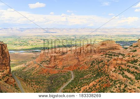 Colorado National Monument And Book Cliffs