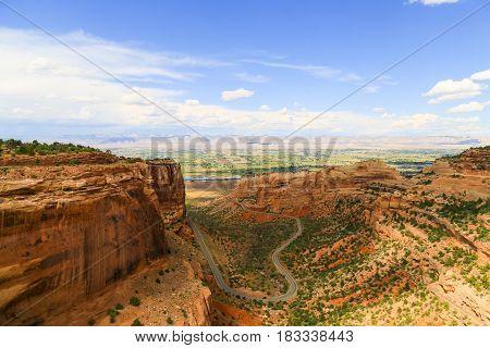 Fruita Canyon In The Colorado National Monument
