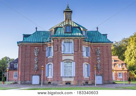SOGEL, GERMANY - JULY 19, 2016: Main building of the Clemenswerth castle in Sogel, Germany