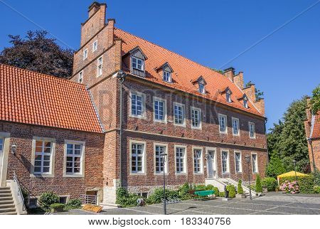 HORSTMAR, GERMANY - AUGUST 17, 2016: Borchhorster hof in the center of Horstmar, Germany