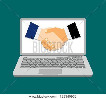 online business isolated on white background. Vector illustration. Eps 10.
