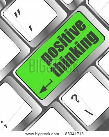 Positive Thinking Button On Keyboard - Social Concept