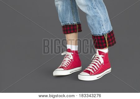 Casual wear red shoes