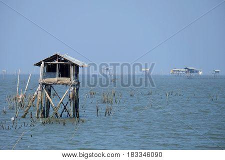 Scenery of Bang Ta Boon Bay at Chanthaburi Province, Thailand.