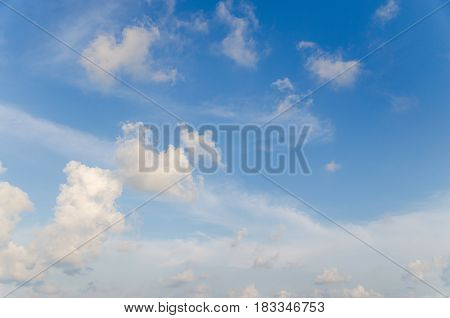 Blue sky, soft clouds soft, softness, summer, sunlight, tranquil, view, weather, white