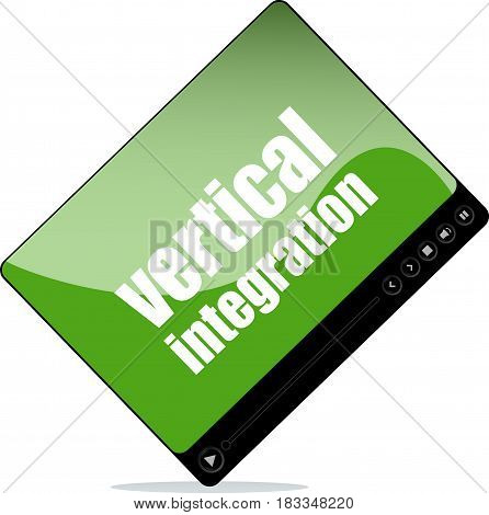 Video Player For Web With Vertical Integration Words