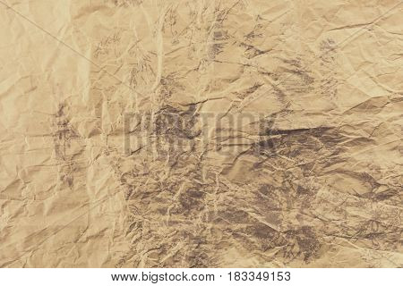 Crumpled paper background. Texture of old crumpled paper