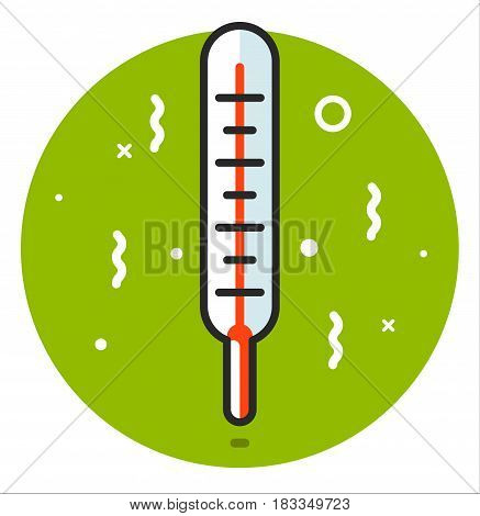 Thermometer medical icon , vector illustration design art
