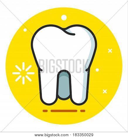Tooth Icon illustration flat design art rasterized