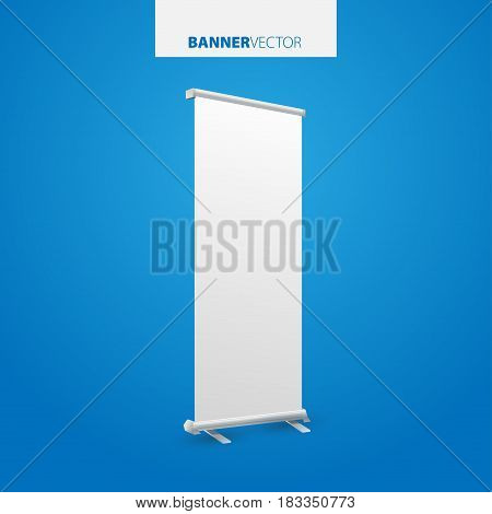 White Billboard Vector. Business Billboard For Advertising, Comm