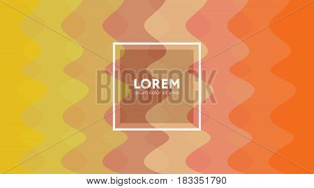 Vector Background In Orange Color Gamut. Abstract Background.