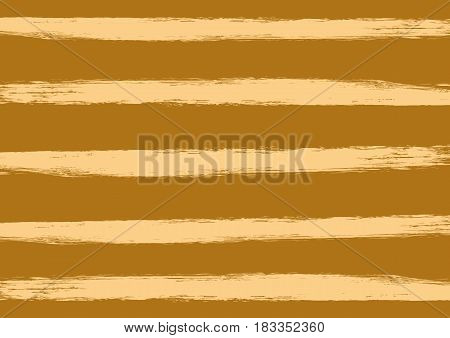 Striped texture. Rectangular horizontal background. Painted by a rough brush. Grunge. Brown beige.