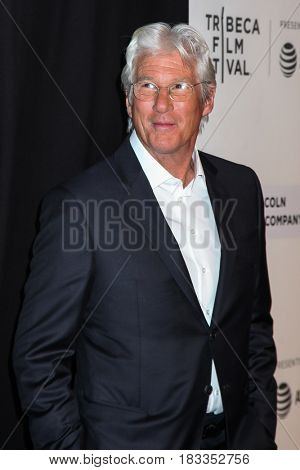 NEW YORK, NY - APRIL 24: Richard Gere attends 'The Dinner' Premiere at BMCC Tribeca PAC on April 24, 2017 in New York City.