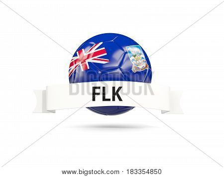 Football With Flag Of Falkland Islands