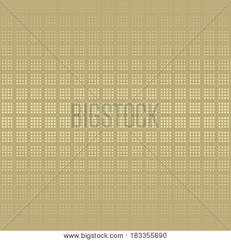 Halftone dots background. Geo geometric seamless pattern in gold. Plaid material checkered background. Good quality halftone dots. Abstract digital background modern technology vector design.