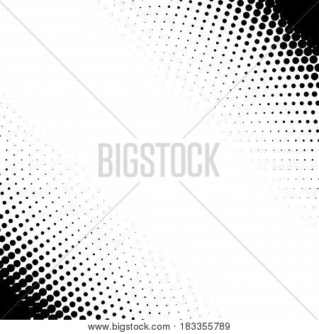 Corner design elements with halftone effect. Halftone vector pattern background. Isolated on white.