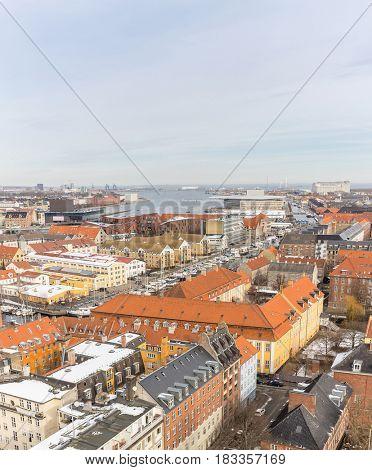 Copenhagen Aerial view of Denmark panorama