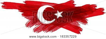 Abstract grunge Turkey flag. Vector illustration for your design