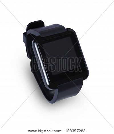 Technology, digital gadget, communication - smart watch with blank screen. isolated on white background, isolated on white background, copy space