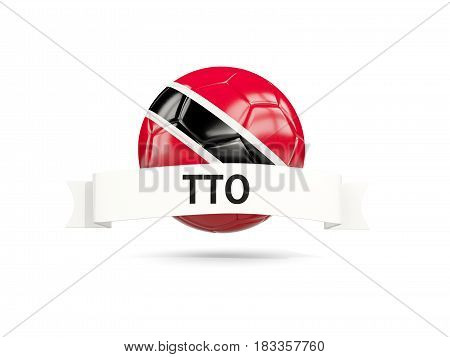 Football With Flag Of Trinidad And Tobago