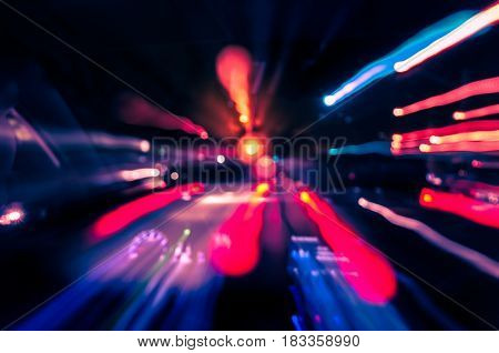 Blurred Background Of A High-speed Vehicle