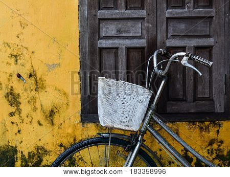 Old Bicycle In Hoi An Town, Vietnam