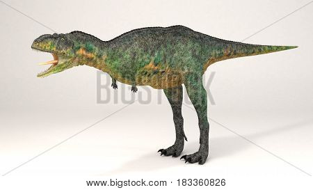 3D Computer rendering illustration of Aucasaurus dinosaur