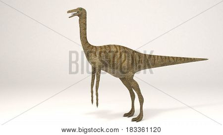 3D Computer rendering illustration of Gallimimus dinosaur